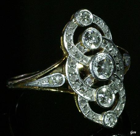 エドワーディアン ダイヤモンド リング  エドワーディアン ダイヤモンド リング オールドヨーロ